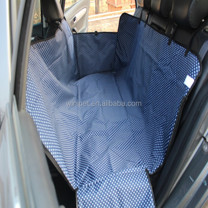 Winipet CD027 Padded And Quilted Pet Car Seat Cover For Luxurious Comfort Dog