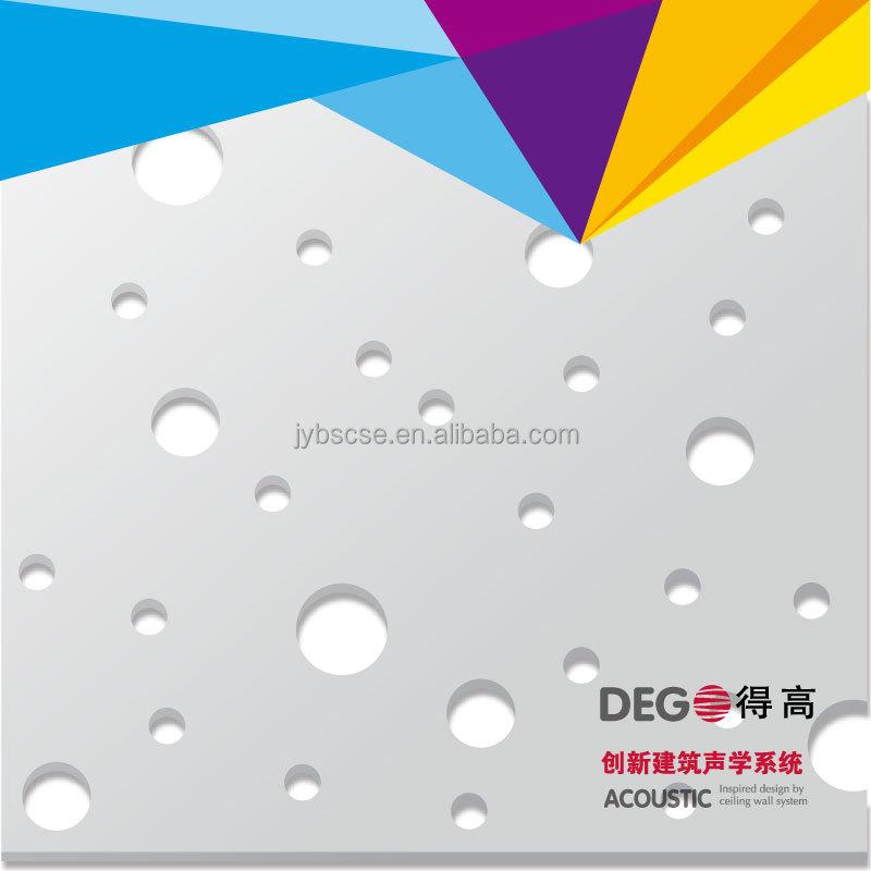Irregular Round Hole Perforated Gypsum Ceiling Tiles Buy