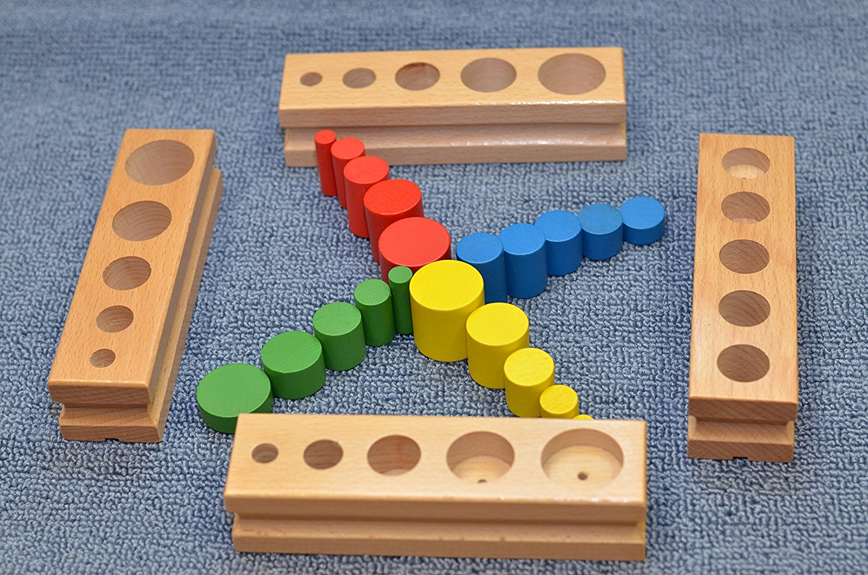 Montessori knobless cylinders (set of 4)