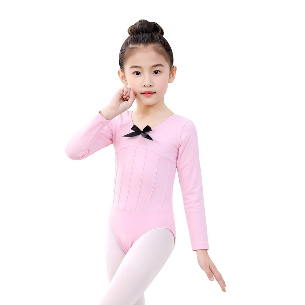 b174321a9556e9 Get Quotations · Wingbind Long Sleeve Gymnastics Leotards for Kids Girls  Children, One-Piece Dance Costumes Ethnic