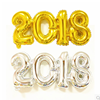 New product celebrate 2018 new year decoration inflatable helium number foil balloon