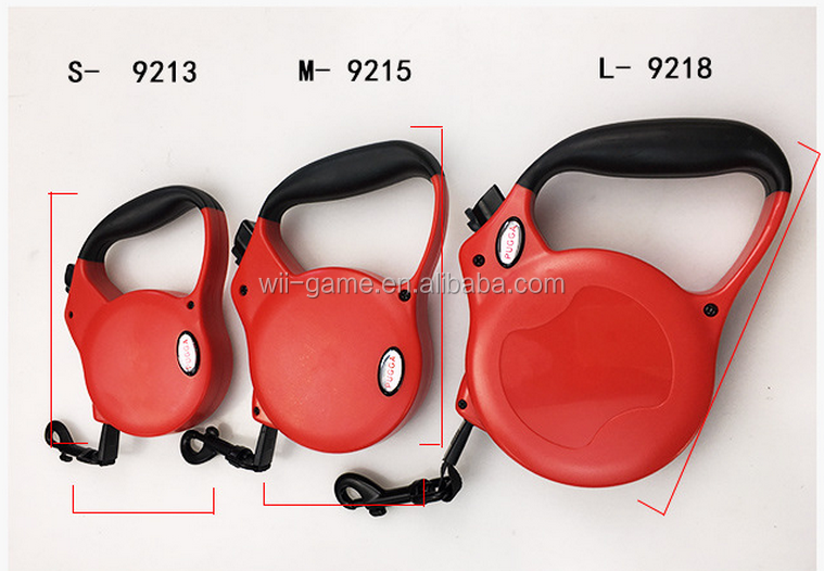 Better Walking Flexible Pet Handle Retractable Leash Pet Collars ABS Plastic and Nylon Material Different Size for Choose