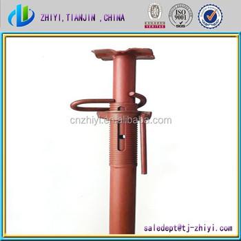 steel jack post slab support