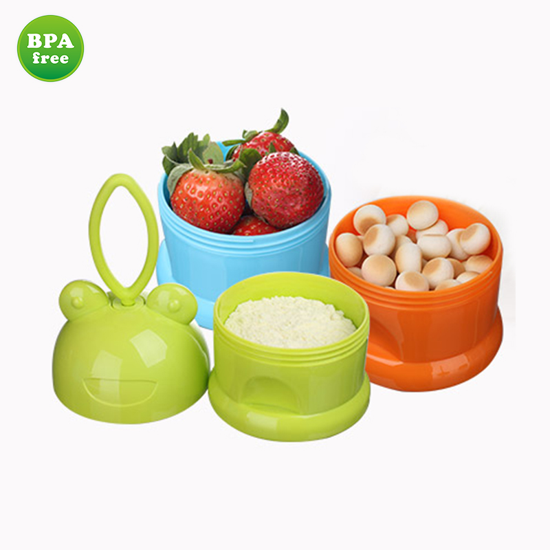 Practical Milk Powder Container Newborn Food Storage 3 Box Container Products