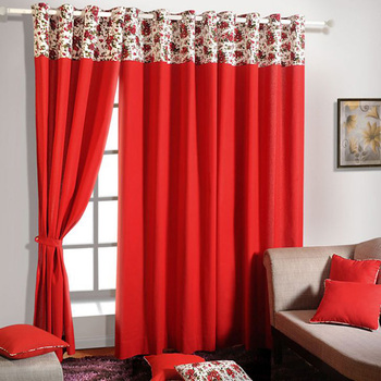 Red Wedding Drapery Backdrop Modern Curtains