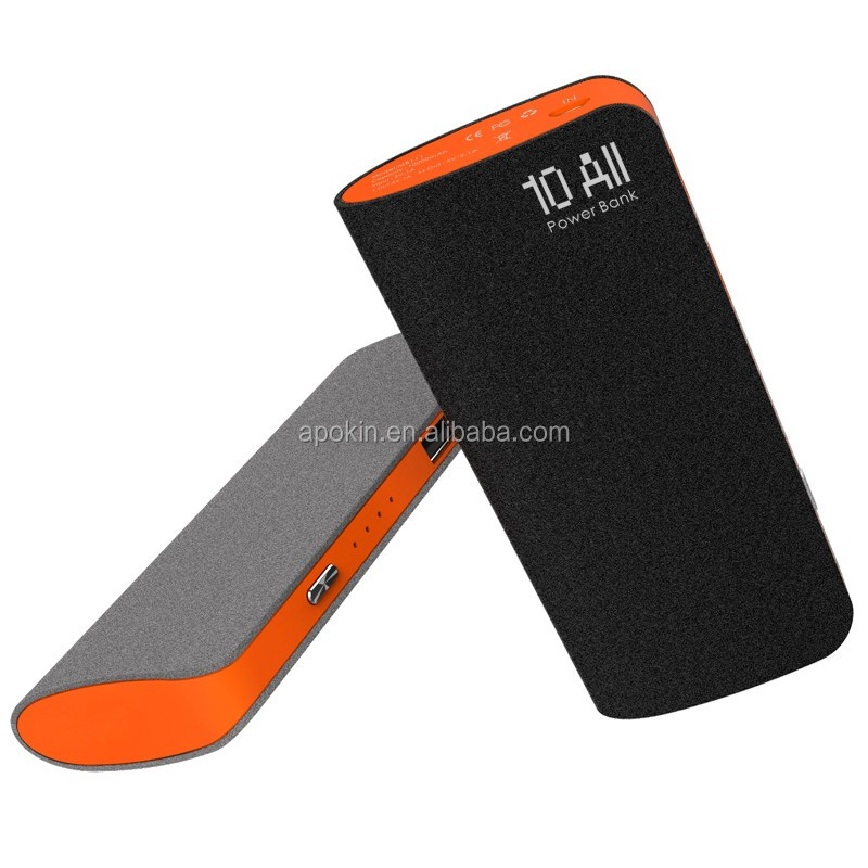 Popular CE FCC ROHS certified portable travel power bank charger 10000mAh
