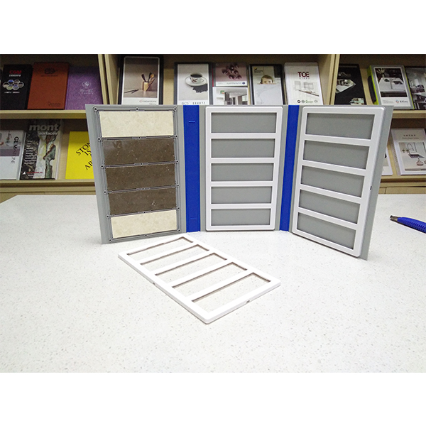 Plastic Stone Tile Sample Folder for Quartz stone and Granite Tile Display