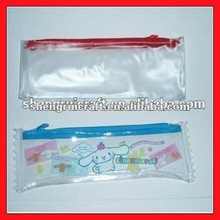 Transparent Zipper PVC Pen Bag