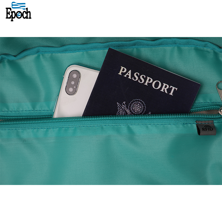 Wholesale latest design rfid blocking usb recharging fully opened anti theft bag
