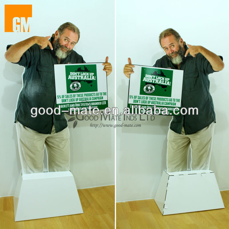 Old Man Cardboard Display Standee with KT Board Material