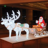 Santa Clause Christmas Figure Motif Light Acrylic Led Horse Lights