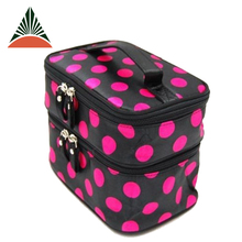 Printed Satin Storage Organizer Travel Beauty Cosmetic Bag