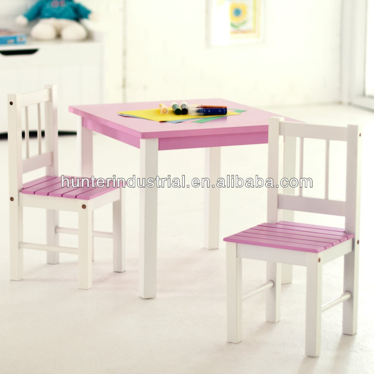 Wooden Children Drawing Table And Chair Wholesale Drawing Table