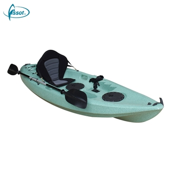 Plastic hot sale 2.93 meters sit on top canoe with paddle