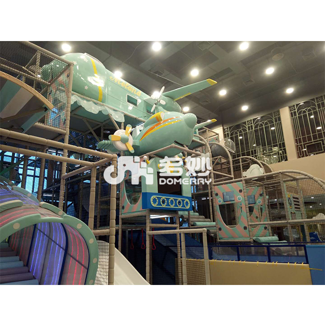 REAL CASE - OEM Modern airplane design kids amusement park play indoor playground equipment of supermarket
