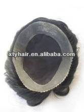"virgin indian human hair men's toupee welded mono lace with 1""PU lace toupee for men"