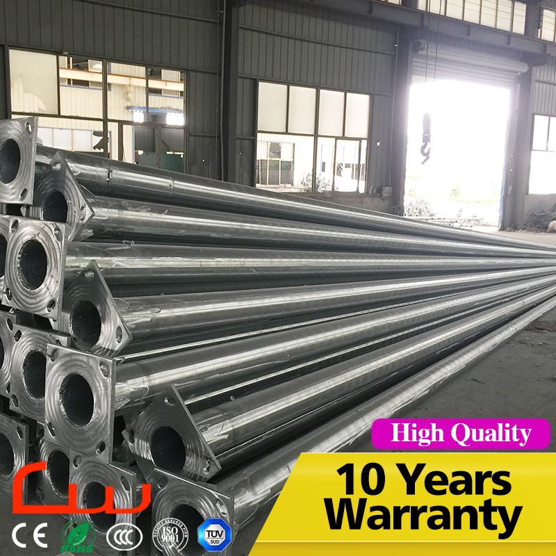 Manufacture Q235 High Mast 12M Galvanized Street Lighting Pole