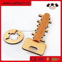 Wooden Educational Unlock Keys intelligent brain teaser toy