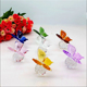 High quality butterfly shape crystal animal ornament as gift