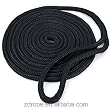 Marine Supplies polyester polypropylene nylon material double braided with loop dock line mooring rope