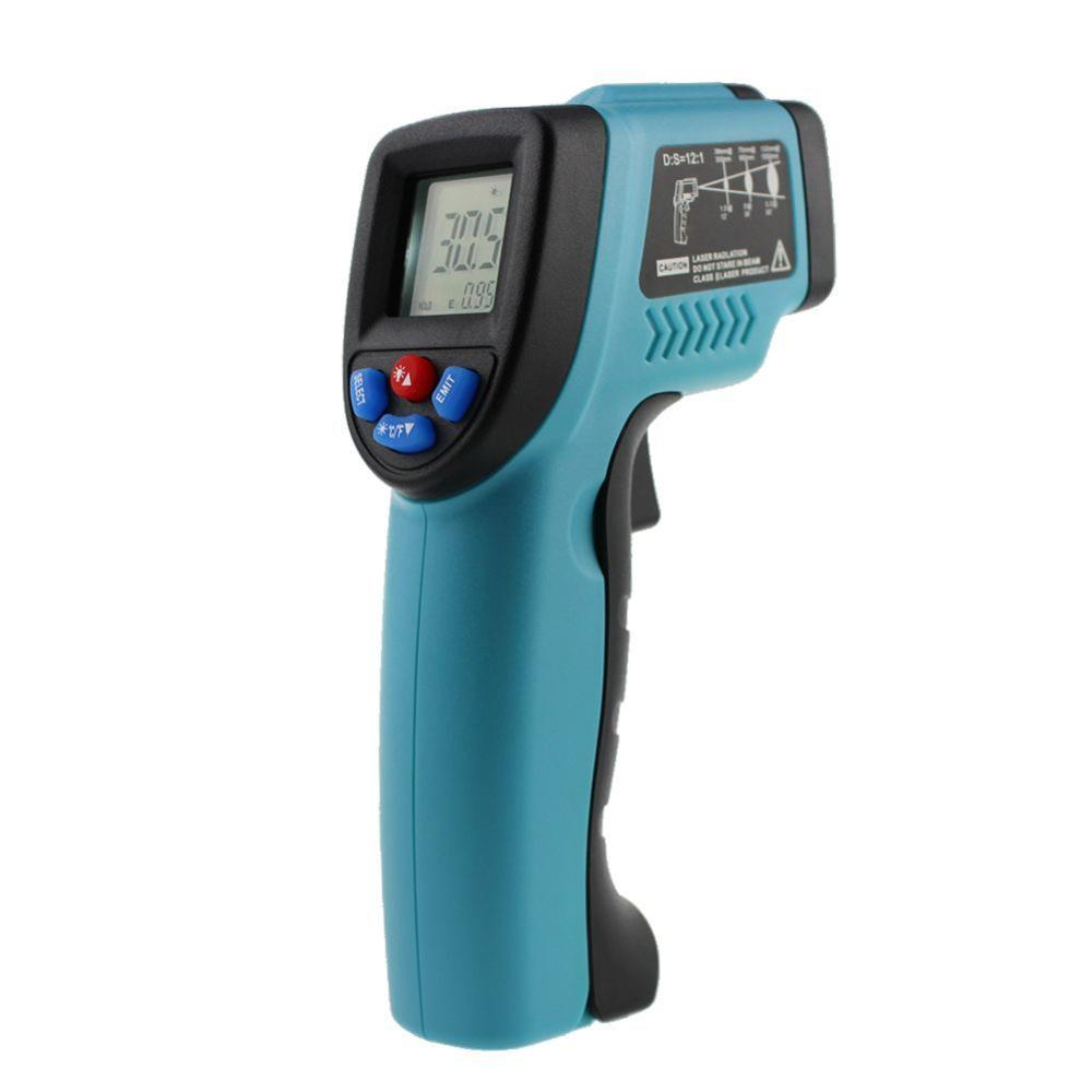 -50~550 C Digital Infrared Thermometer Laser Temperature Gun Pyrometer Aquarium Emissivity Adjustable IR Temperature Meter