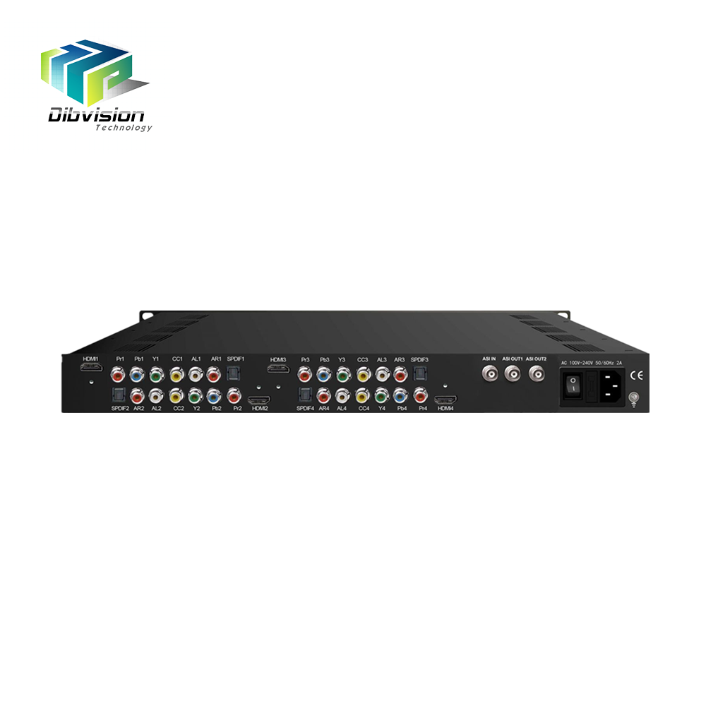 Video streaming device 4 channel hd ip encoder h.264 for dvb c headend system