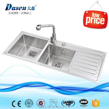 Dasen High Class Pressing Board With Double Bowl Handmade Stainless