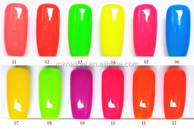 Rnk 16 Colors Soak Off Nail Gel Polish Glow In The Dark Uv