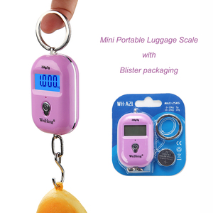 Amazon promotional gift blister packaging 25 kg mini portable luggage scale digital