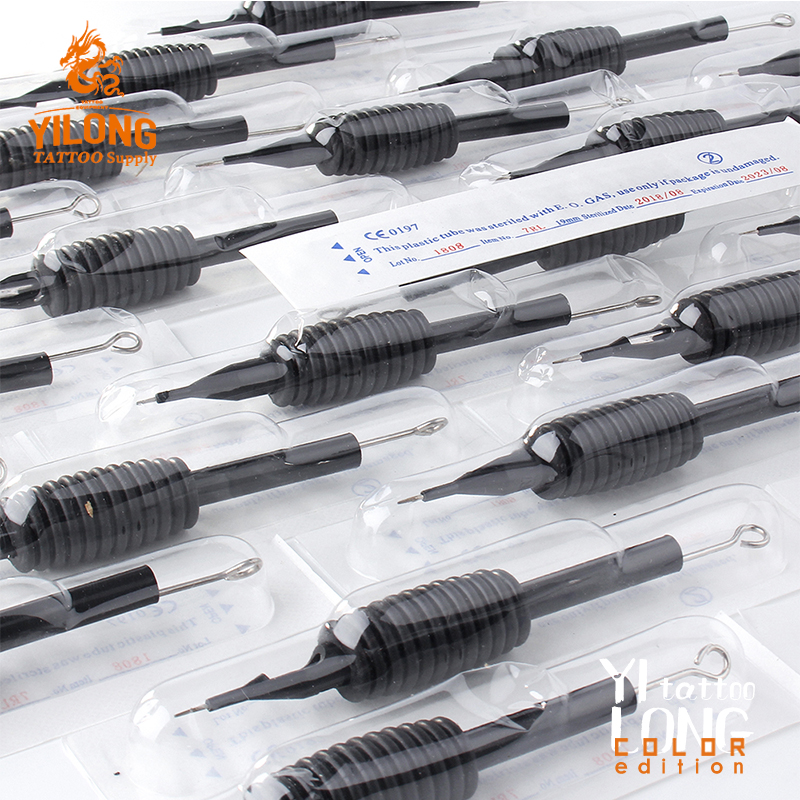 Yilong Professional Disposable Tattoo Grip With Needle For Tattoo