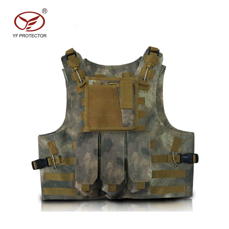 Wholesale Military camouflage safety vest, military tactical vest plate carrier