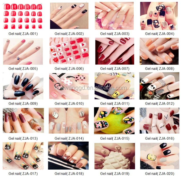 ABS False Nails Custom Press on Nails Red Design Artificial Nail tips