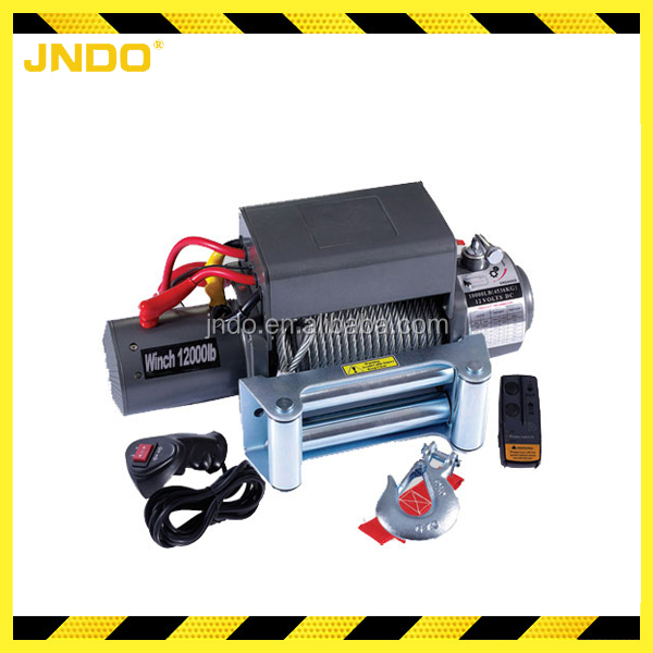 SUV Jeep 12V 24V 12000lbs recovery winch electric wire rope winch