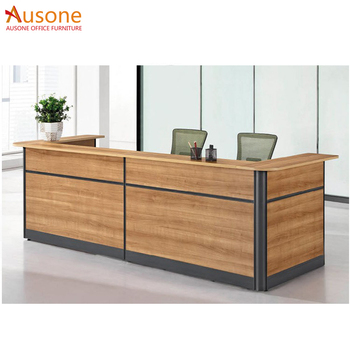 Wood Cutting Office Table Modern