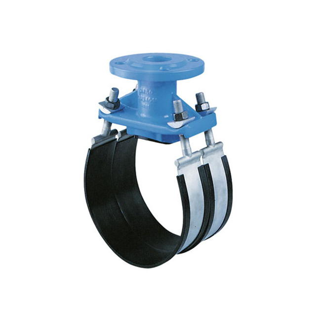 China Metal Foundry Professional Manufacturer Double Pipe Clamp With Rubber