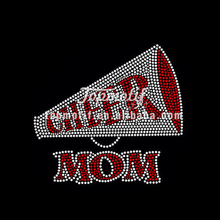 Crystal and Red color Rhinestone Transfer Cheer Motif