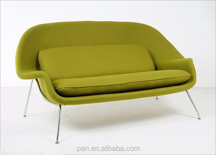 Midcentury Modern Knoll Eero Saarinen Fiberglass Womb Sofa Replica