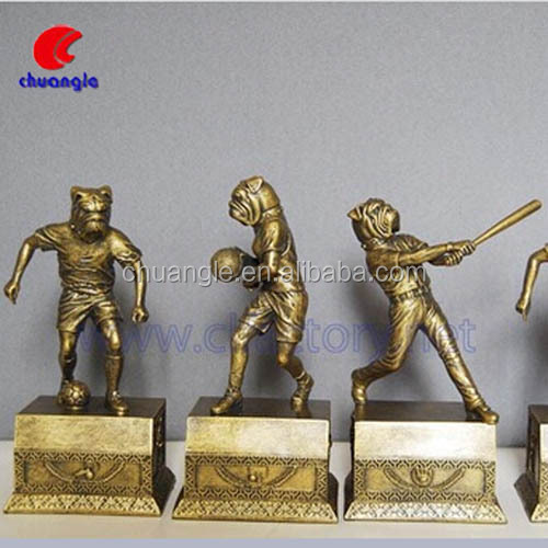 Custom Metal Trophy , Metal Trophy Figurines, 3D Bronze Figurine