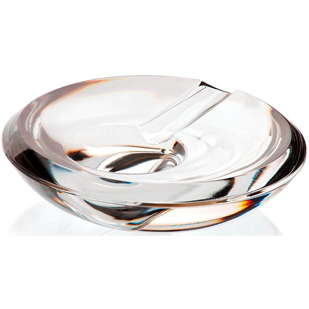 "Crystal Ashtray, Cigarette Ashtray, Outdoor Ashtray, Garden Ashtray, Crystal Ashtray, Collection ""CASABLANCA"", 15 cm, transparent (GERMAN CRYSTAL powered by CRISTALICA)"