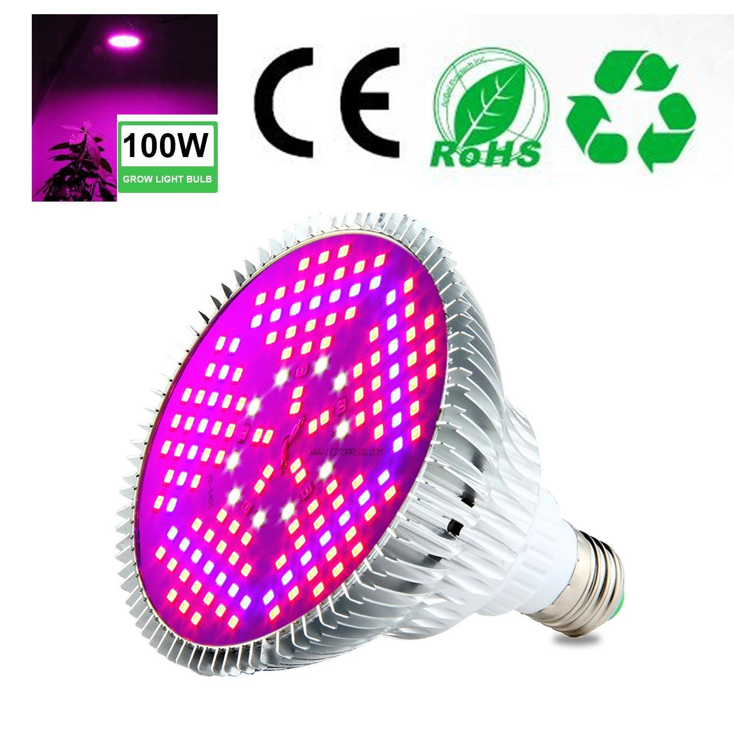 Cheap bulb plants for sale find bulb plants for sale deals on line get quotations aolvo led grow light bulb 100w full spectrum plant light lamp for indoor plants hydroponics izmirmasajfo