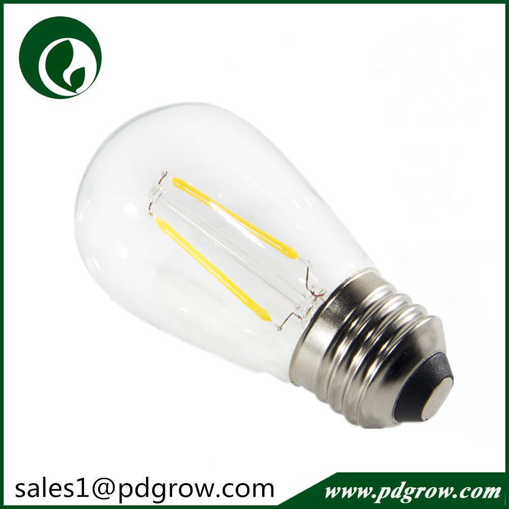 UL Approval E27 E26 2W Filament S14 Led Light Bulbs dimmable edison led bulb