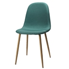 Green Fabric Dinning Chair Metal Simple Design Upholdstery Chair