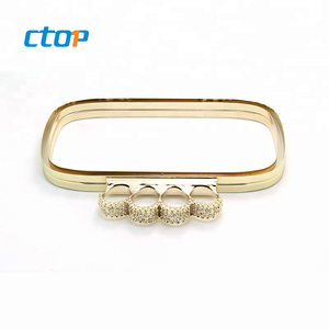 Factory wholesale China high quality hardware accessories custom designer size metal clutch bag coin purse frame 8.5cm