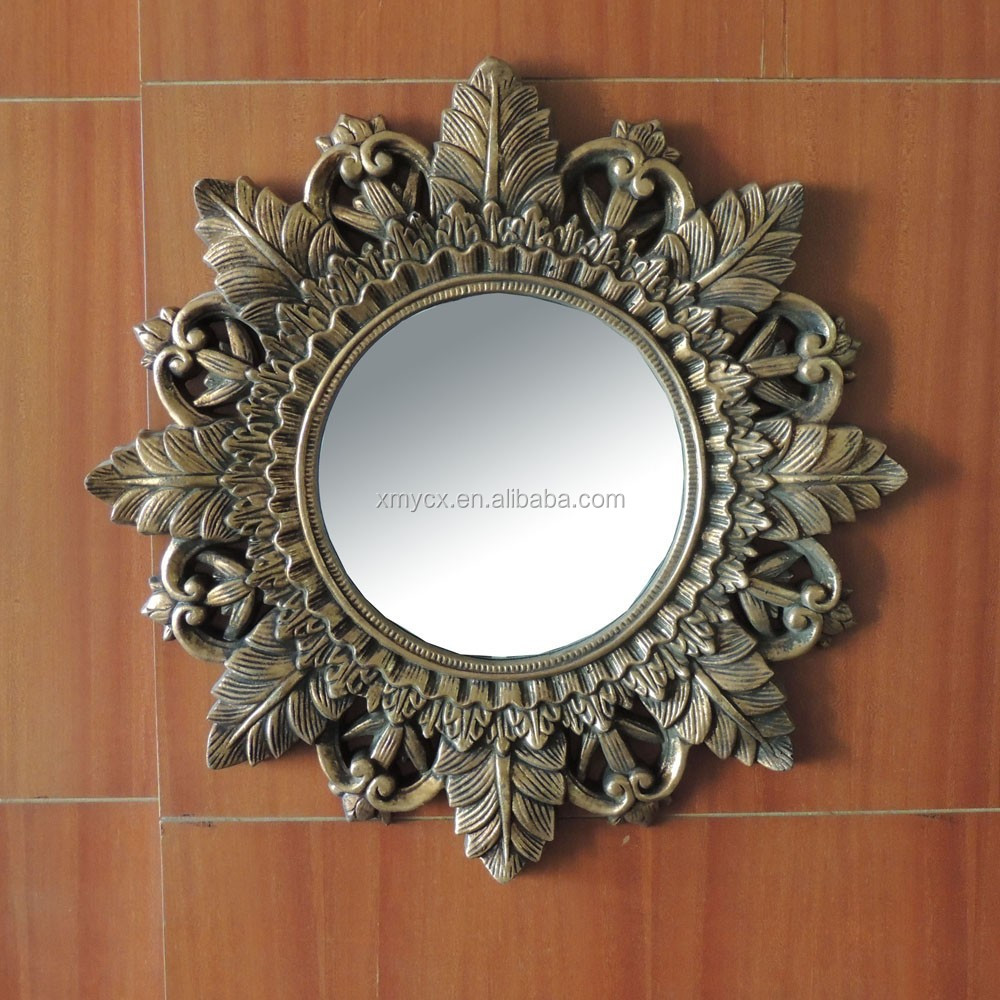 Fashionable resin mirror frame floral design for sale