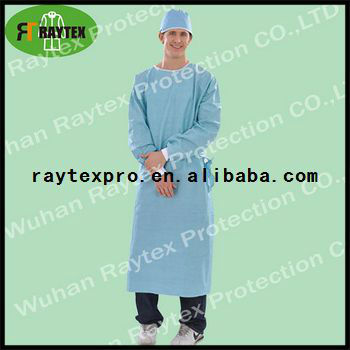 Disposable Wood pulp surgical gown/Isolation gown
