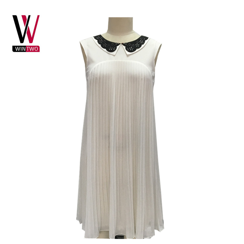 Woman fashion party dress made of woven