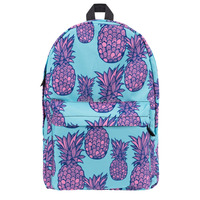 Zohra New Design 3D Fullprint Pink Pineapple Custom Back Pack For Girls