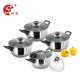 4 Pcs Cookware Pots And Pans Cookware Set Soup Pot With Handle
