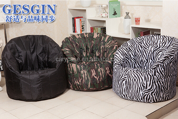 Big Joe Comfort Research Dorm Bean Bag Chair Zebra Black Camouflage