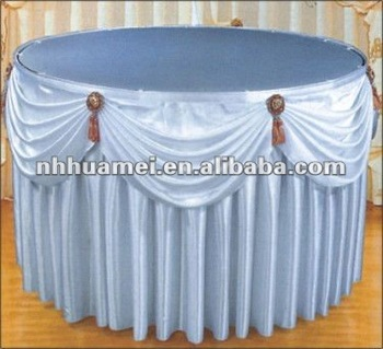 New Style Hotel Table Skirt Designs